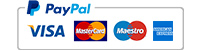 Visa, Mastercard, Maestro und Amex über Paypal Logo